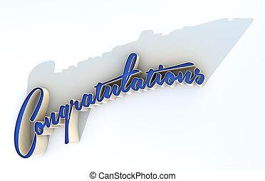 extruded, felicitaciones, texto