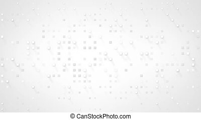 extruded white squares loopable animation - extruded white...