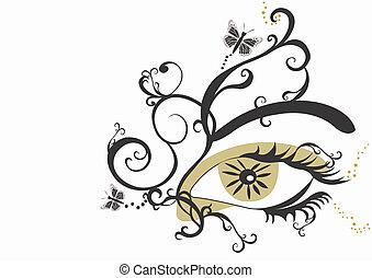 Eye - A vector illustration of an eye