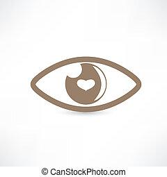 Eye abstract vector icon