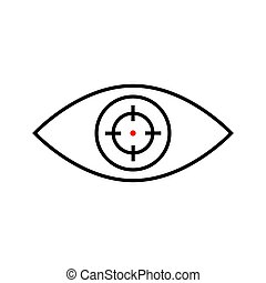 Eye and scope icon.