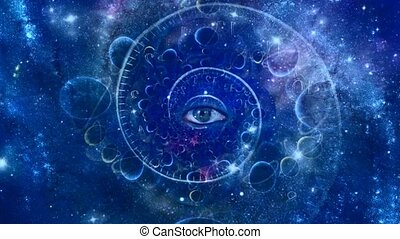 Eye and spiral of time. Space fractal