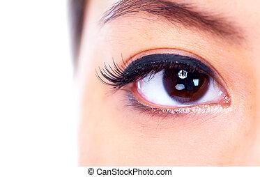 Eye. - Asian woman eye. Ophthalmology. Vision health.