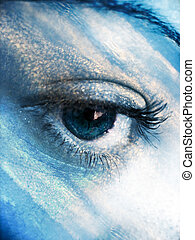 Eye Atmosphere - A beautiful abstract eye concept in a sky...