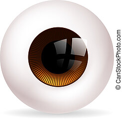 Eye ball - An illustration of a big round eye ball or...