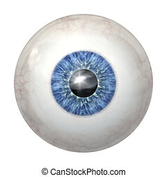 eye ball blue - An image of a blue eye ball