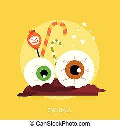 Eye Ball Conceptual illustration Design