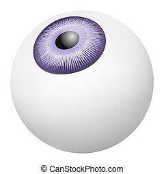Eye ball mockup, realistic style - Eye ball mockup....