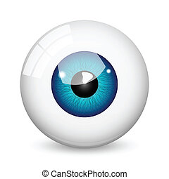 Eye ball - Nice blue eye ball with shadow on white...