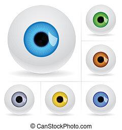Eye balls. Vector illustration on white background