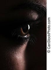 eye beautiful woman