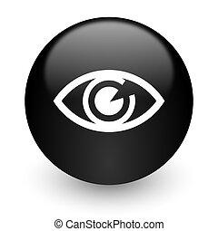 eye black glossy internet icon