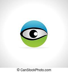 eye blue green concept