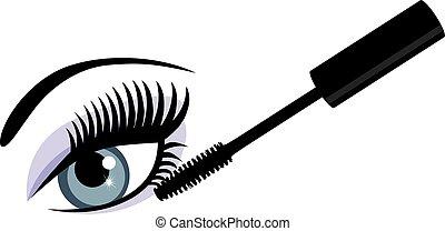eye blue mascara