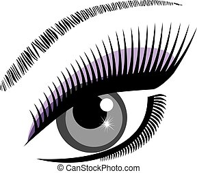 eye blue - vector eye with lashes