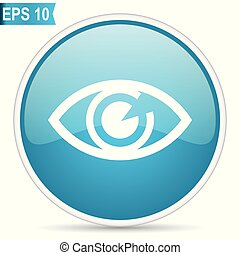 Eye blue vector icon