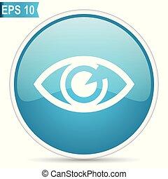 Eye blue vector icon