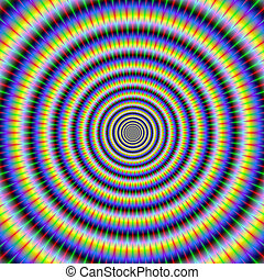 Eye Boggling Circles - Digital abstract fractal image with a...