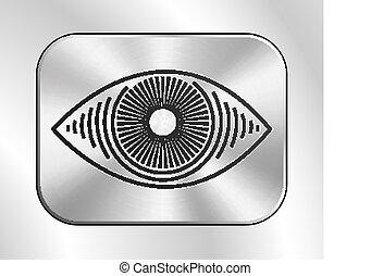 Eye button icon.
