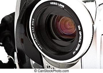 eye camera plate closeup