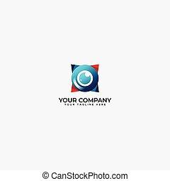 eye capture logo, lens camera, view camera