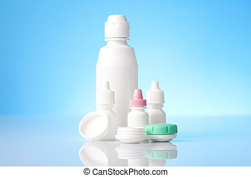 eye care liquids and drops for contact lenses users