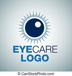 EYE CARE LOGO - eye care logo concept designed in a simple ...