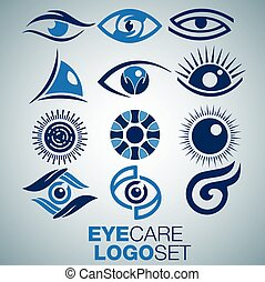 EYE CARE LOGO set - eye care logo concept designed in a ...