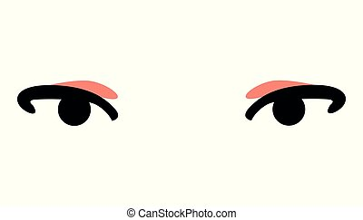 eye cartoon icon cute on white background