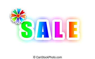 eye-catching sale sign with bold, colorful letters