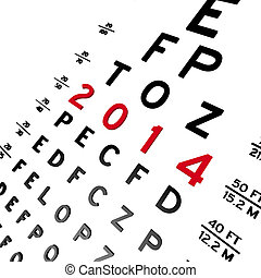 Eye Chart - Abstract eye chart background design isolated on...