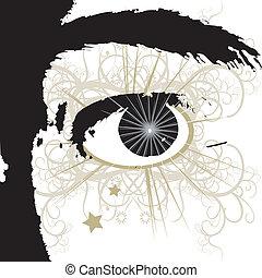 Eye - Closeup of cartoon eyes