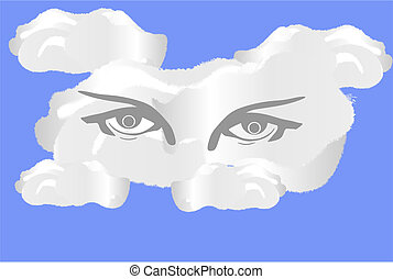Eye cloud allows one to store things in a different place.. The clouds send and receive programs through wireless...