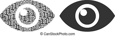 Eye Composition of Binary Digits