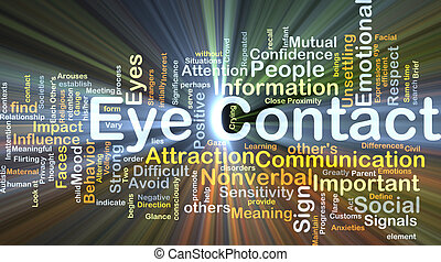 Eye contact background concept glowing