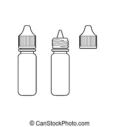Eye Drop Bottle Isolate On White Background vector - image...