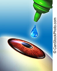 Eye drops - Refreshing drops for tired eyes. Digital...