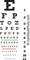 eye examination chart in vector format