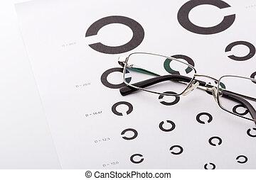 Eye examination chart