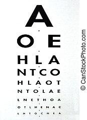 Eye examination - Snellen chart - Eye examination - ...