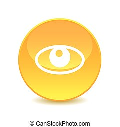 eye , eye icon on white background , Vector.