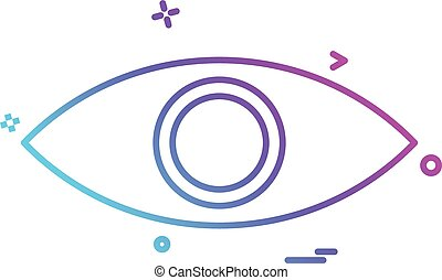 eye eyeball look search spy vision icon vector desige
