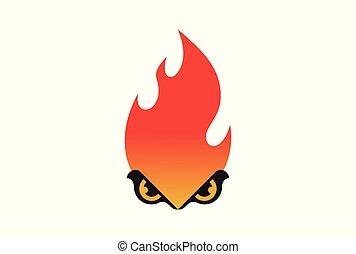 eye fire abstract logo icon vector