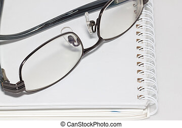 eye glass with paper