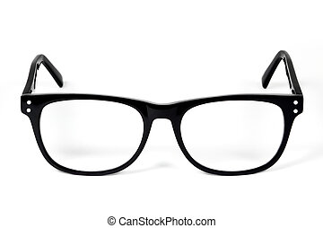 Eye glasses - Black Eye Glasses Isolated on White