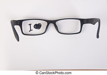 eye glasses. eye glasses with concept on the background