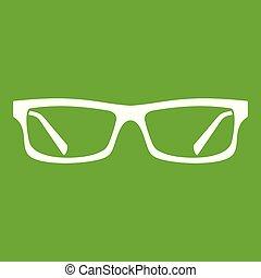 Eye glasses icon green