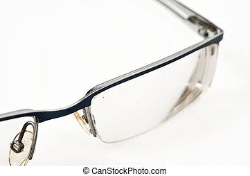 Isolated eye glasses on white background
