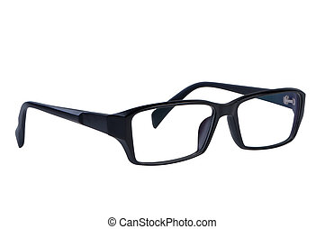 Eye glasses isolated on white background clipping path.