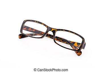Eye glasses isolated on white background